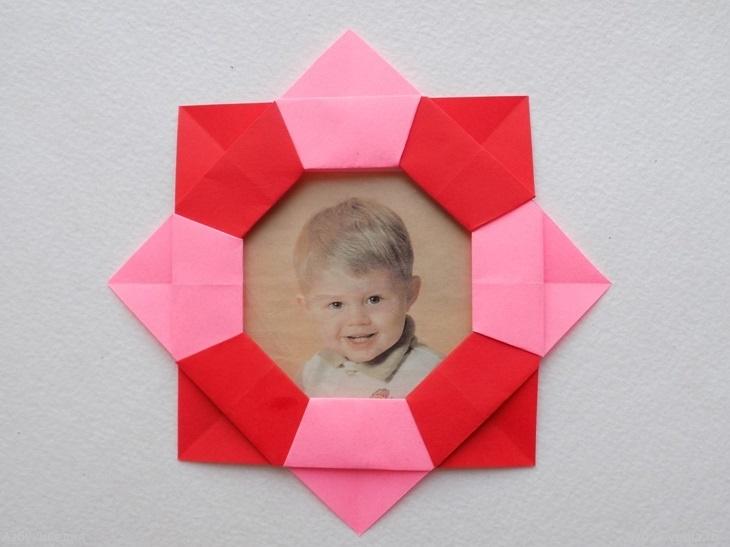 Как сделать фоторамку из бумаги в технике оригами