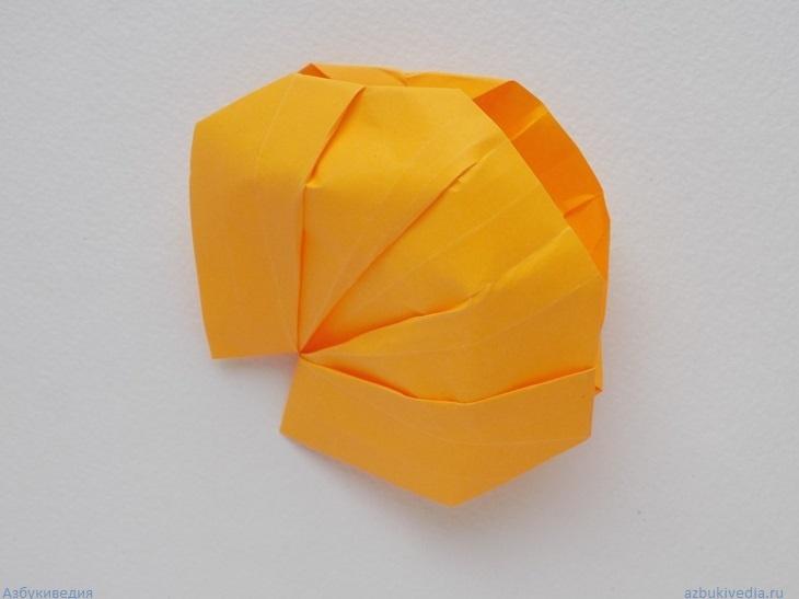 Как сделать ракушку из бумаги в технике оригами
