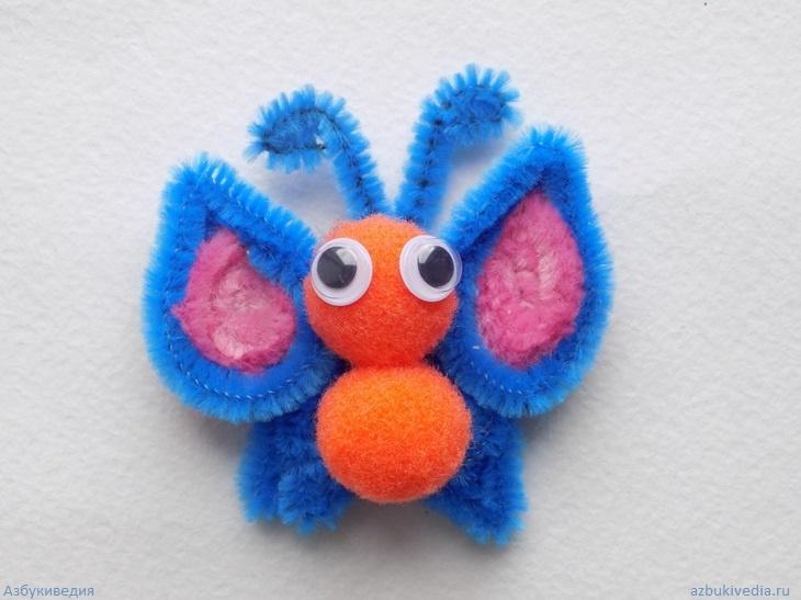 Как сделать бабочку из синельной проволоки