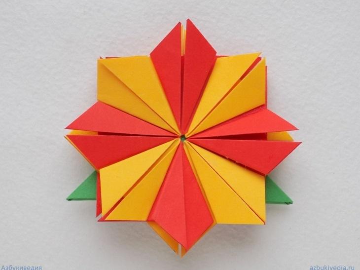 Как сделать закладку для книги в виде цветка оригами