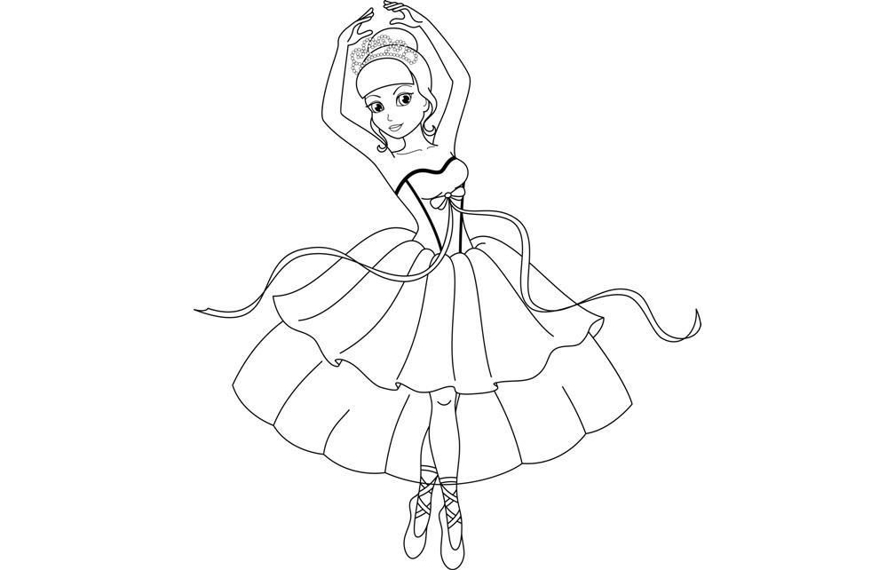 Раскраска Балерина