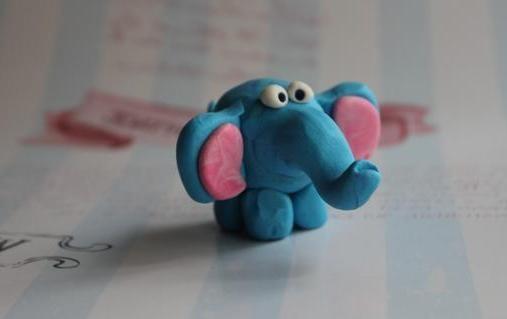 Поделки из пластилина. Слон