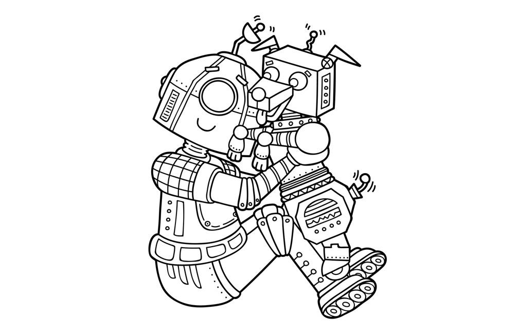 Раскраска Лучший друг робота