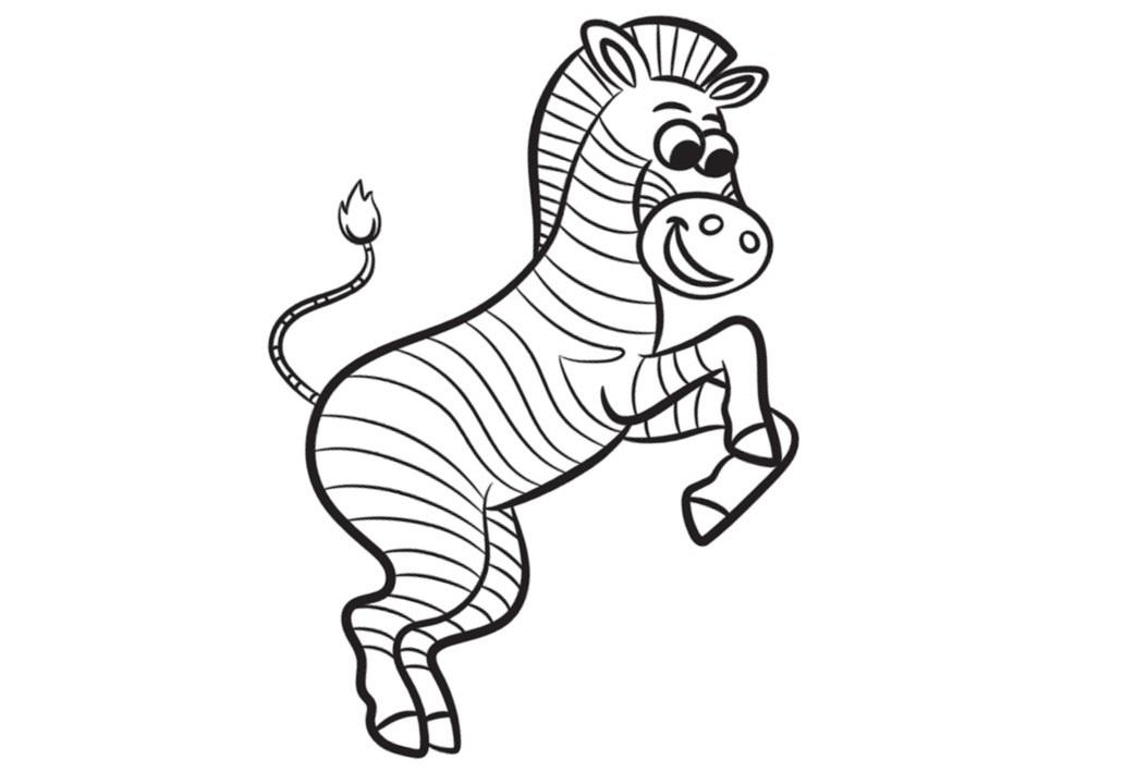 Зебра картинки для детей раскраска