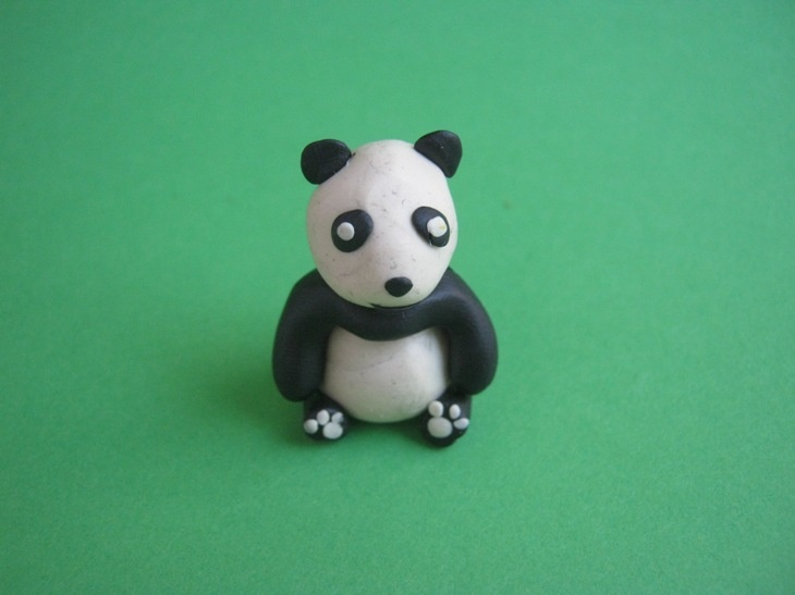 Как слепить панду из пластилина
