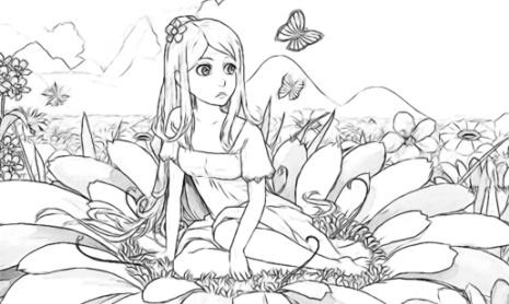 Раскраска-антистресс Фея цветов