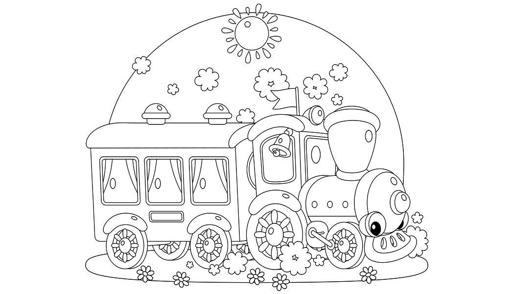 Раскраска Весёлый поезд
