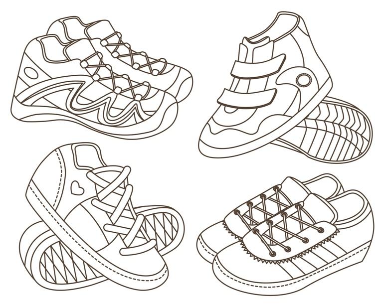 Раскраска Спортивная обувь