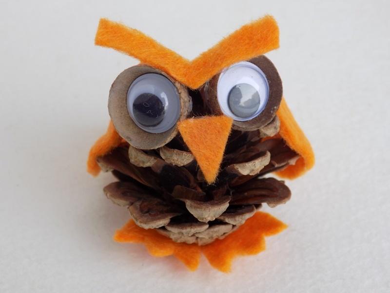 Как сделать сову из природных материалов и фетра