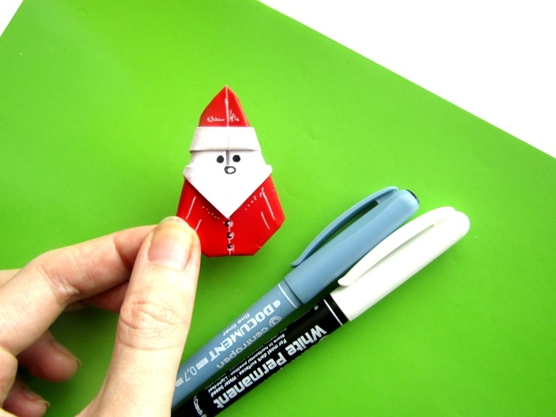 Как сделать Деда Мороза из бумаги в технике оригами