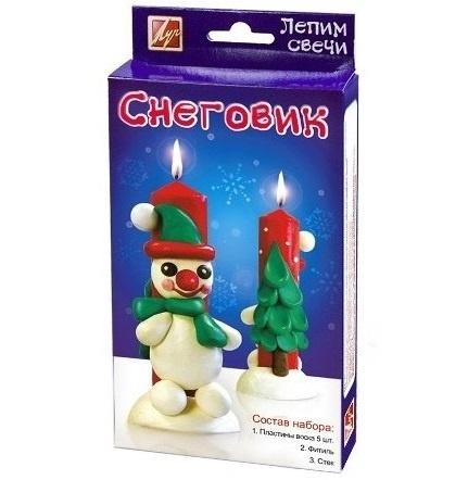 Лепим свечи. Снеговик