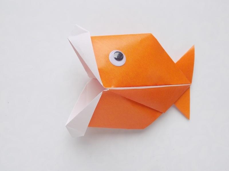 Как сделать «говорящую» рыбку из бумаги