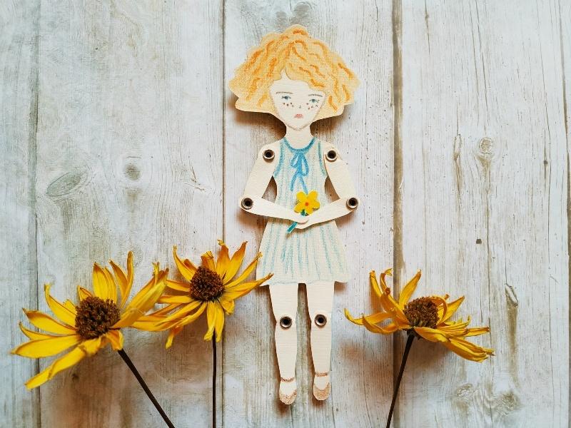 Как сделать подвижную куклу из бумаги