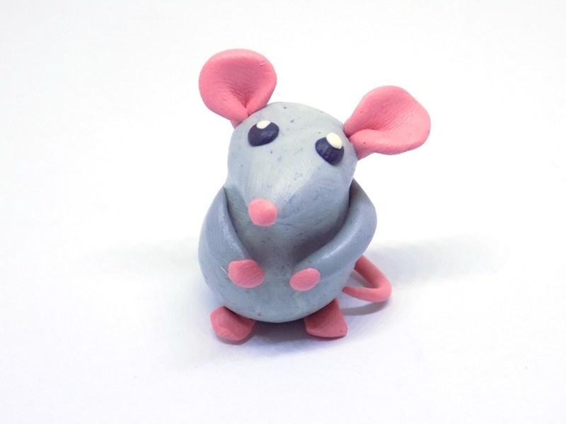 Как слепить крысу из пластилина