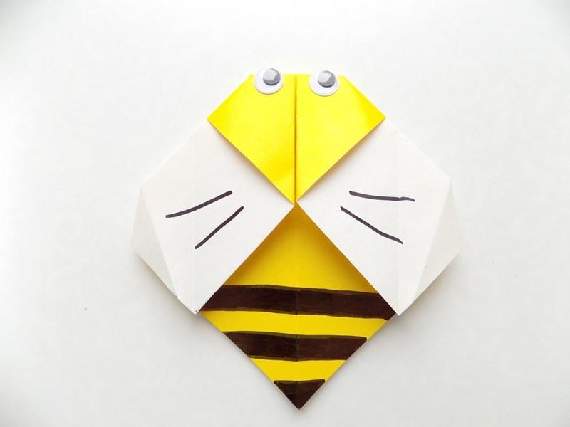 Как сделать пчелку из бумаги