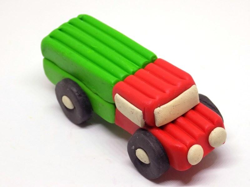 Как слепить машину из пластилина