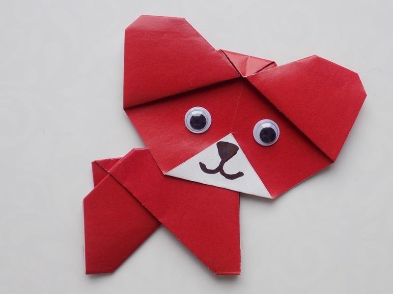Как сделать собаку из бумаги