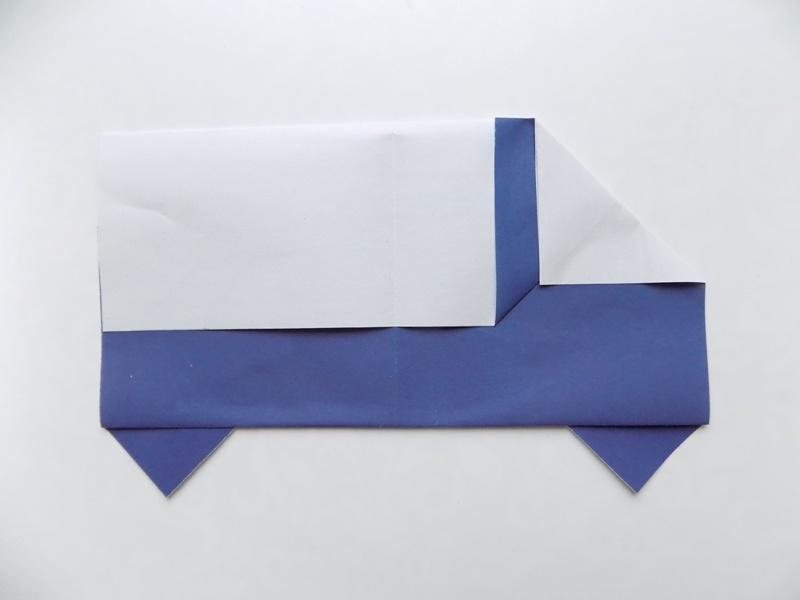 Как сделать машину из бумаги в технике оригами