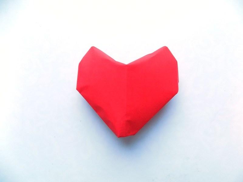 Как сделать объёмное сердце из бумаги