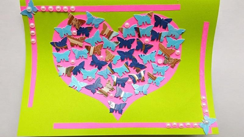 Как сделать открытку-валентинку из бумаги