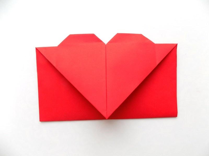 Как сделать конверт с сердцем из бумаги