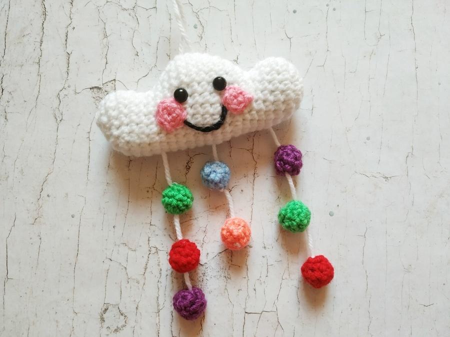 Как связать крючком детскую игрушку Облако