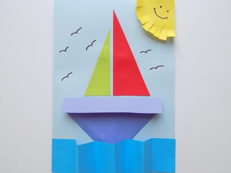 Как сделать открытку с корабликом