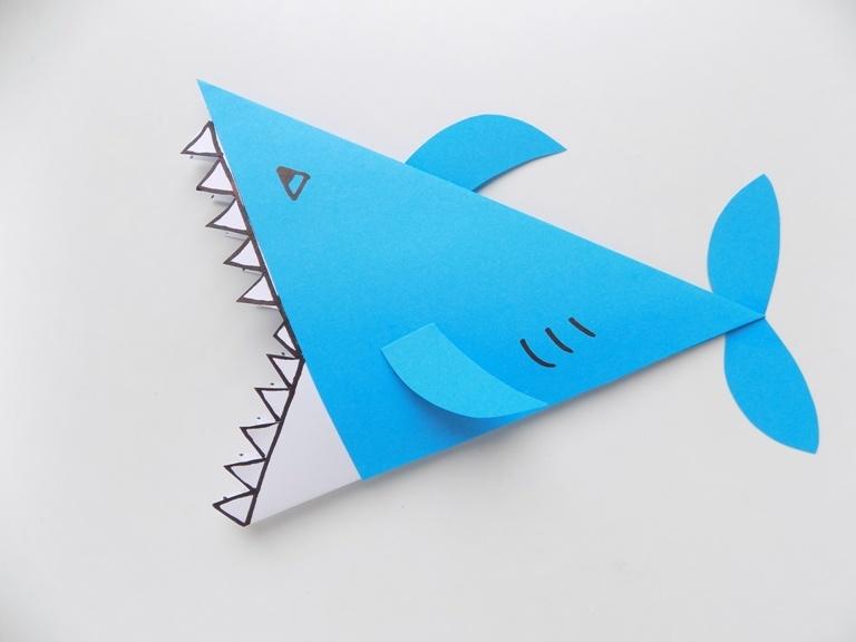 Как сделать акулу из бумаги