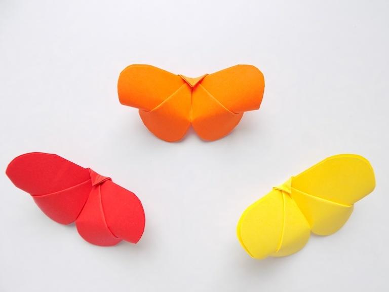 Как сделать быстро бабочек из бумаги