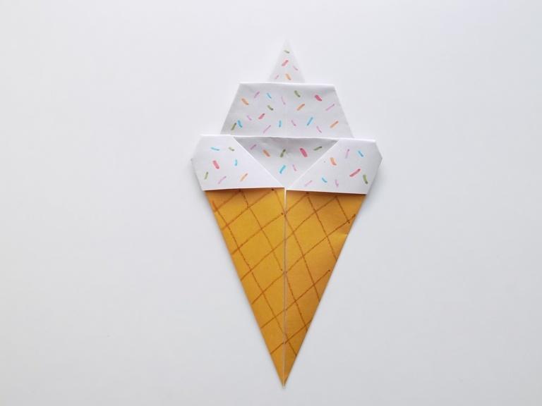 Как сделать мороженое из бумаги в технике оригами