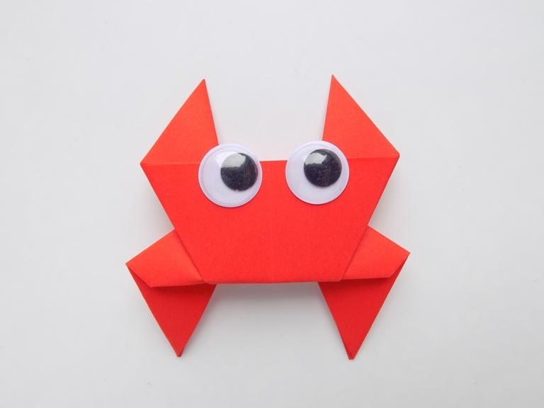 Как сделать краба из бумаги в технике оригами