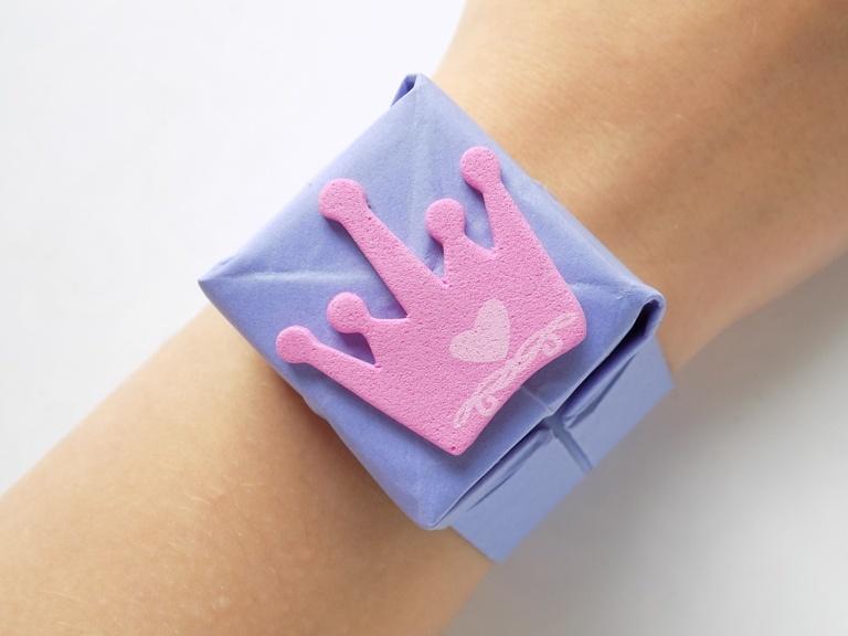 Как сделать детский браслет из бумаги