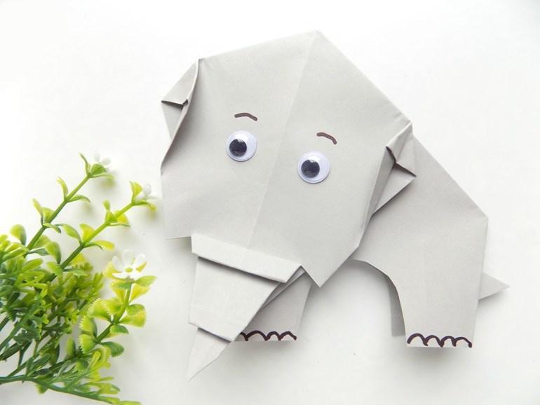 Как сделать из бумаги слона