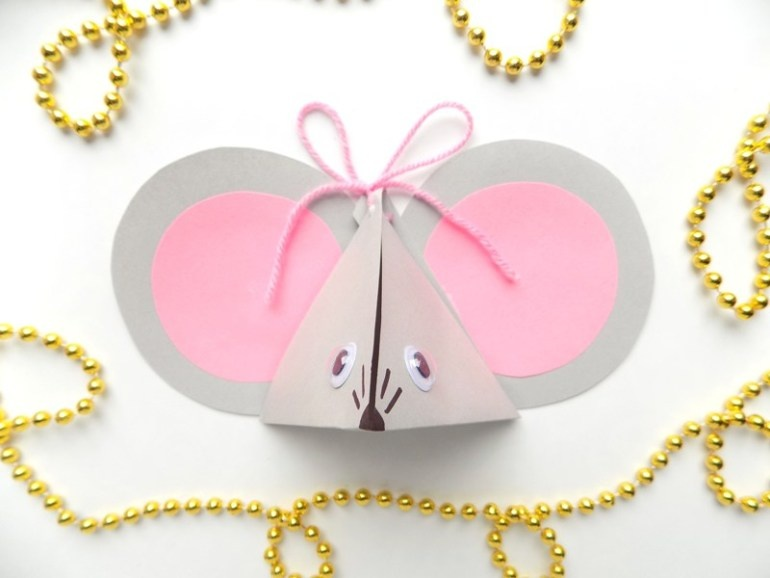 Как сделать подарочную коробочку в виде мышки