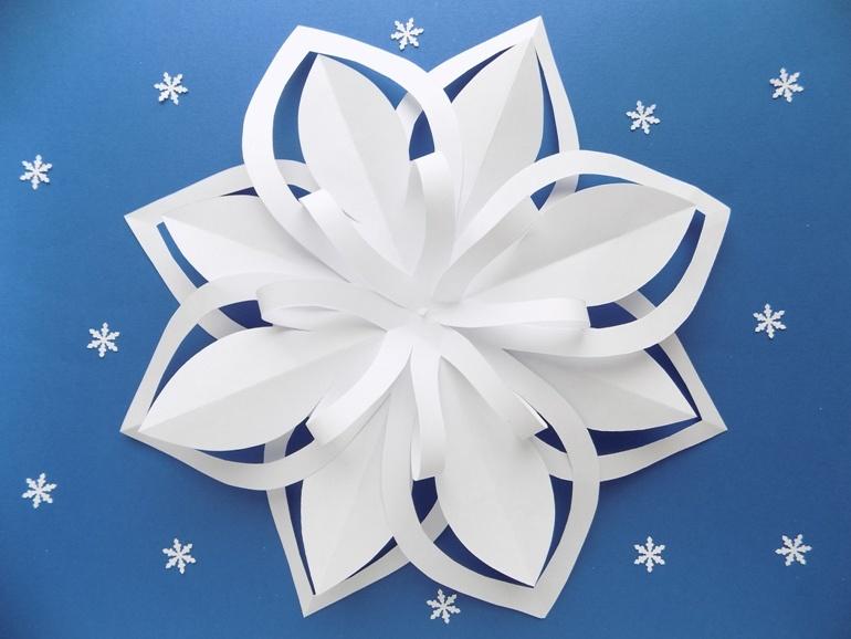 Как быстро сделать снежинку из бумаги