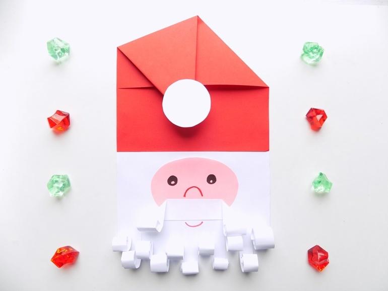 Простые поделки с детьми. Как сделать Деда Мороза из бумаги