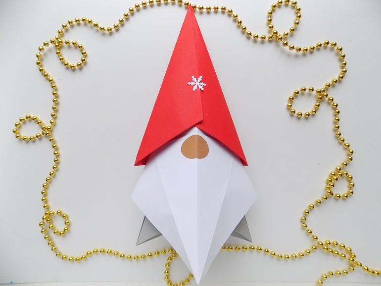 Как сделать гнома из бумаги в технике оригами