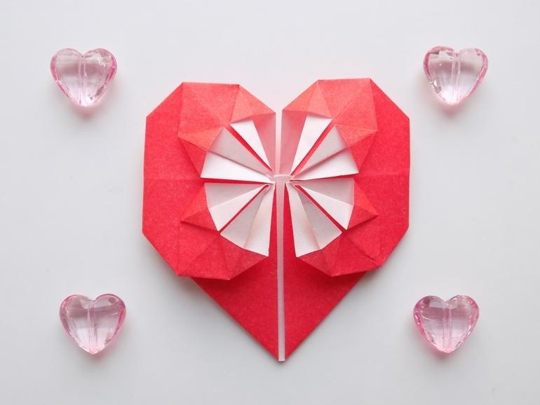 Как сделать сердце из бумаги в технике оригами