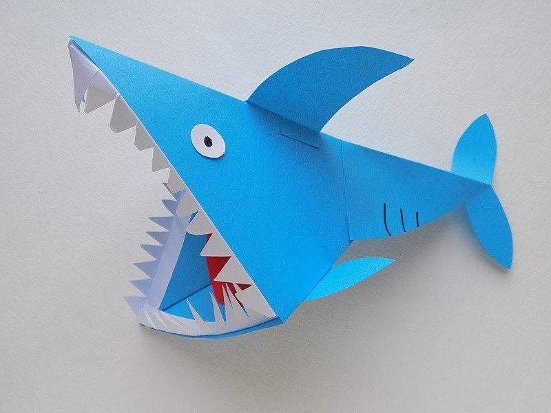 ядерным картинки акула схемы из бумаги завоевала