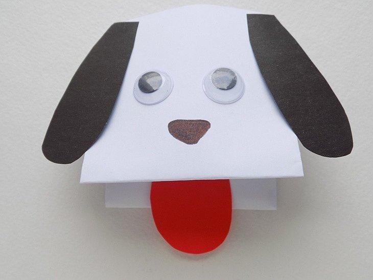 поделка собаки из бумаги своими руками
