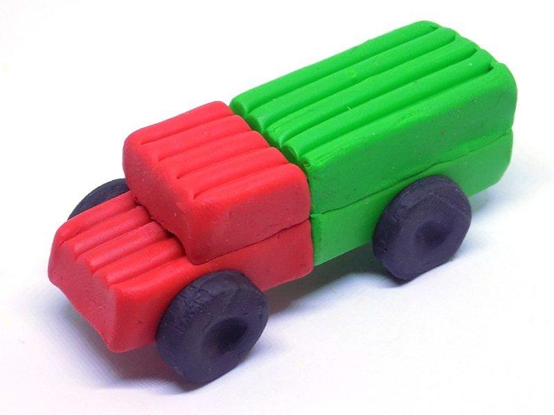 Картинки как сделать машину из пластилина, днем
