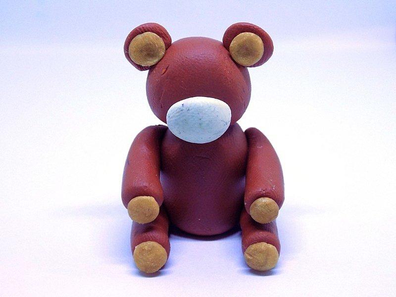 Картинки медведь из пластилина