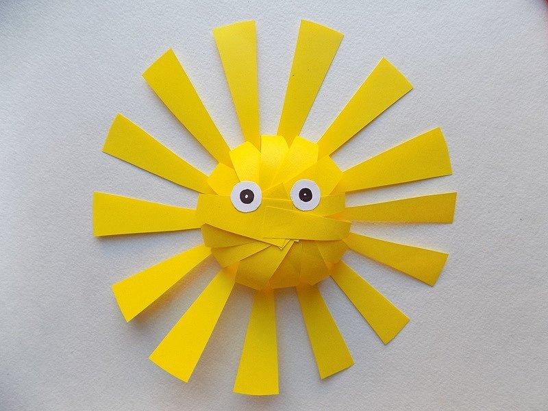 солнце из цветной бумаги шаблоны уже строящиеся