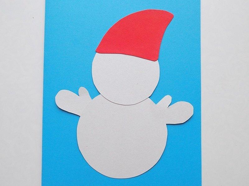 Красивые, новогодняя открытка снеговики мастер класс
