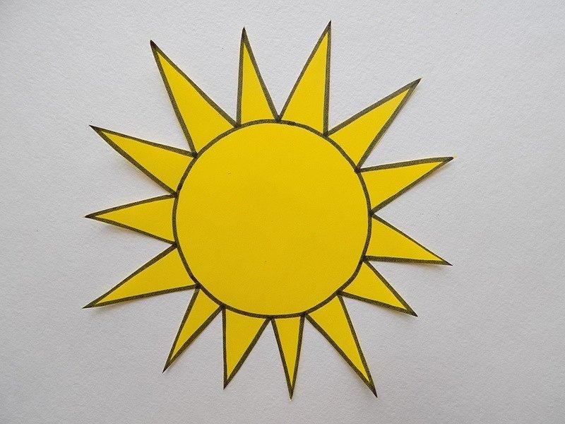 солнце из цветной бумаги шаблоны создания гармоничного