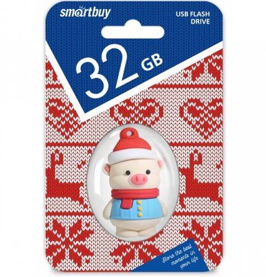 Флешка (USB-накопитель) Smartbuy Happy Pig 32GB