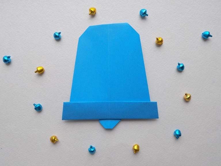 Как сделать колокольчик из бумаги в технике оригами