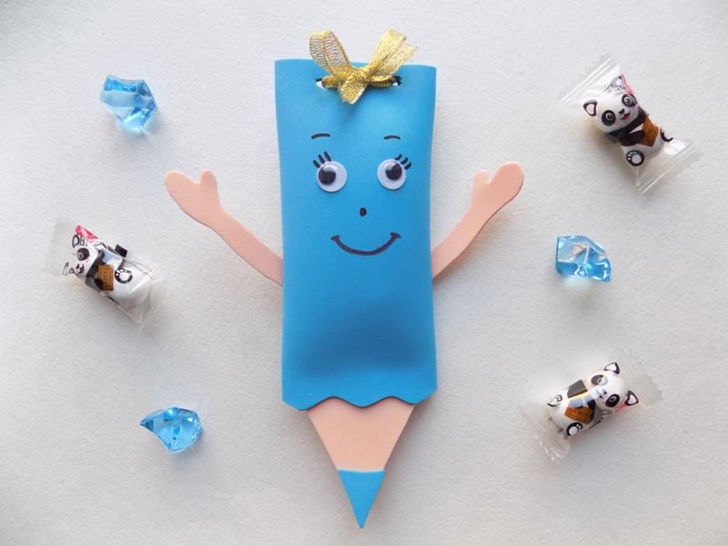 Забавная мини-упаковка в виде карандаша из фоамирана