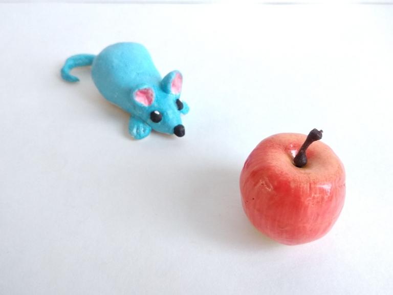 Как сделать мышонка из солёного теста