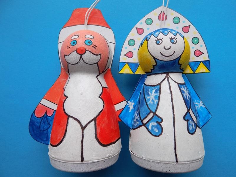Шар-папье «Дед Мороз и Снегурочка»